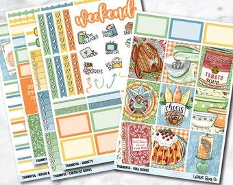 FULL KIT Planner Stickers - Thankful