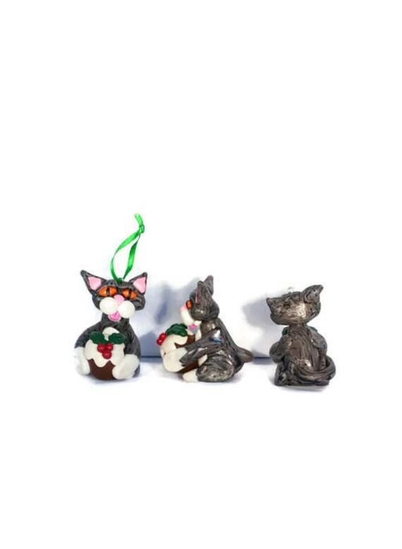 Christbaumschmuck Katze Katze Weihnachten Baum Christmas Etsy