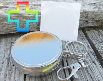 SET:3 - 1 Ash + 1 Epoxy Sticker - Neutral + clear - Folding ashtray with key chain AND cigarette tray