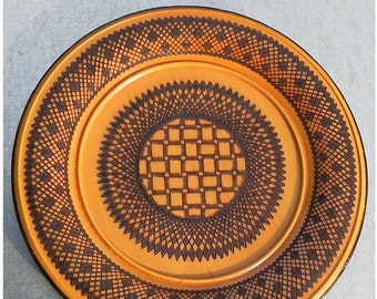 Wood plate Fire painting-fine Handrbei 0s years