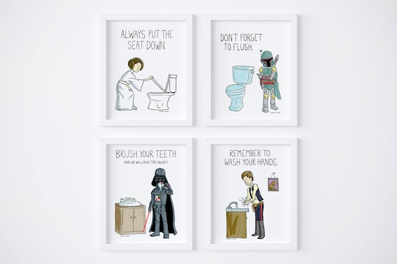 PRINTABLE Star Wars Kids Bathroom Rules Wash your hands ...