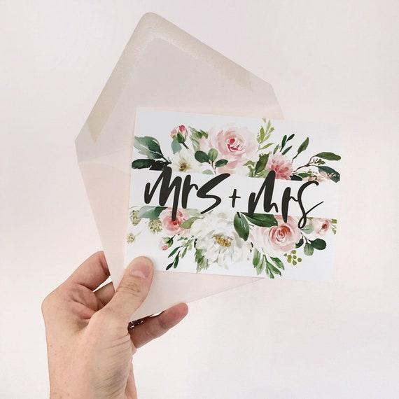 Mrs + Mrs Wedding/Bridal Shower Card