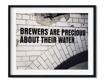 Brewer's Water - Guinness Photo Print