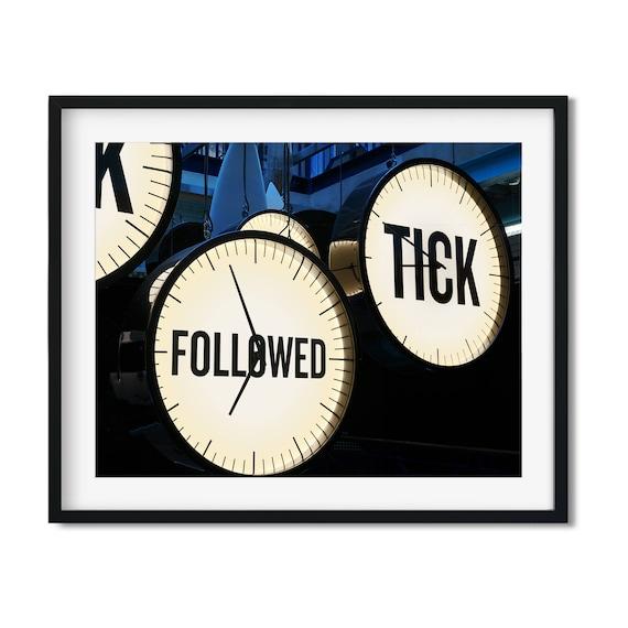 Tick Follows Tock - Guinness Art Print