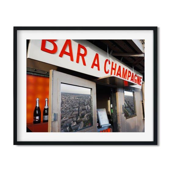 Bar Á Champagne - Eiffel Tower Champagne Bar Art Print