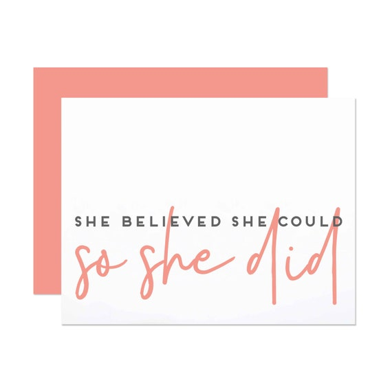 She Believed She Could - Graduation Card