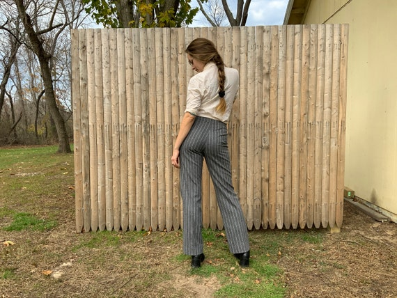 Pinstripe gray wool trouser