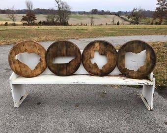 Whiskey Barrel Lid Etsy