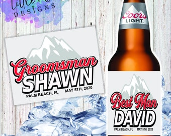 wedding 4 Personaslied BUDWEISER BEER BOTTLE Labels birthday any occasion