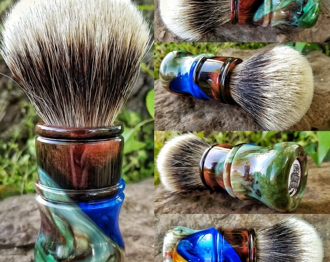 Multi Colored Shaving Brush, Handmade, Free Shipping