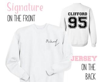 Michael Signature Sweatshirt, Clifford 95 Shirt 5 Seconds of Summer Gift 5SOS Shirt Teen Girl Gift Ideas Teens Tumblr Sweatshirt Aesthetic