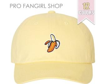 Banaan papa Hat, Tumblr esthetische kleding honkbal hoed, strand van de hoed van de zomer Fruit roze papa hoeden papa Cap Baseball Caps tiener meisje cadeau-ideeën