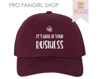 None Of Your Business Dad Hat, Tumblr Aesthetic Clothing Baseball Hat, Dad Hats Dad Cap, Kiwi Baseball Hat Teen Girl Gift One Direction 1D