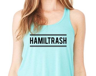 Hamiltrash Hamilton Gift, Eliza Hamilton Musical, Revolutionary Women, Schuyler Sisters, Jefferson, Aaron Burr,  Lafayette Fashion Tank Top