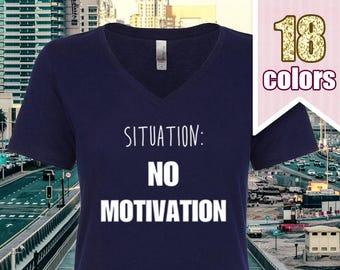 Situation No Motivation T Shirt, Cute Teenage Girl Gift Ideas Teens 5SOS Shirt, 5 Seconds of Summer T Shirt, Luke Hemmings, Michael Clifford