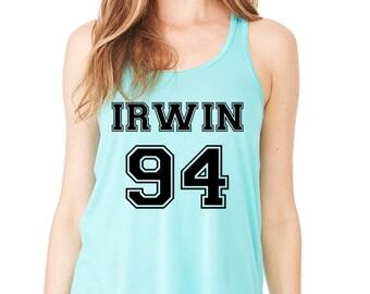 Irwin 94, 5 Seconds of Summer, Ashton Irwin, One Direction, Band Fan Tank Top, Trendy Tumblr Shirt Teen Girl Gift, Summer gifs