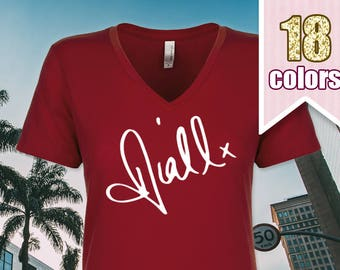 Niall Horan Signature V Neck Tshirt, Niall Shirt One Direction Gift, One Direction Shirt One Direction T Shirt Teen Girl Gift Idea Teens
