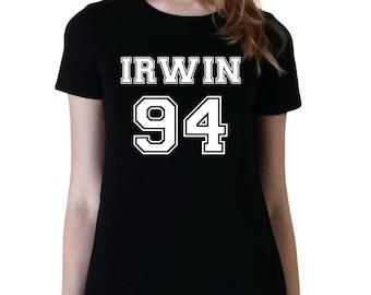 Irwin 94, 5SOS Band Shirt, Ashton Irwin 5 Seconds of Summer T-Shirt, Fangirl Shirt, Black Grey White Unisex Ladies Junior Tshirt