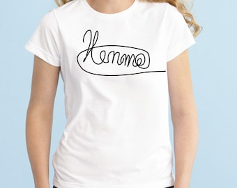 Luke Signature Shirt, Fashion Band T-Shirt, Fan Girl Shirt, 5sos, One Direction, Black Grey White Junior Tshirt, Band Shirt, Tumblr