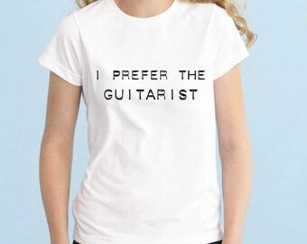 I Prefer The Guitarist Shirt, Luke Hemmings 5SOS Band Shirt, 5 Seconds of Summer T-Shirt, Fangirl Shirt Black Grey White Ladies Tshirt