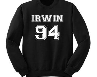 Ashton Irwin, Irwin 94, 5 SOS Sweat Shirt, Band Shirt, Crew Neck Fangirl Shirt, Black Grey White