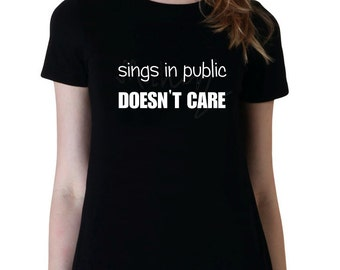 Sings In Public Shirt, Band Shirt, Fan Girl Shirt, 5SOS, One Direction, Junior Tshirt, Woman Graphic Tee Tumblr Shirt, Teen Girl Gift