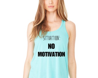 Situation No Motivation, 5 Seconds of Summer, One Direction, Tank Top, Trendy Tumblr Shirt, Summer gifs, Summer Tanks