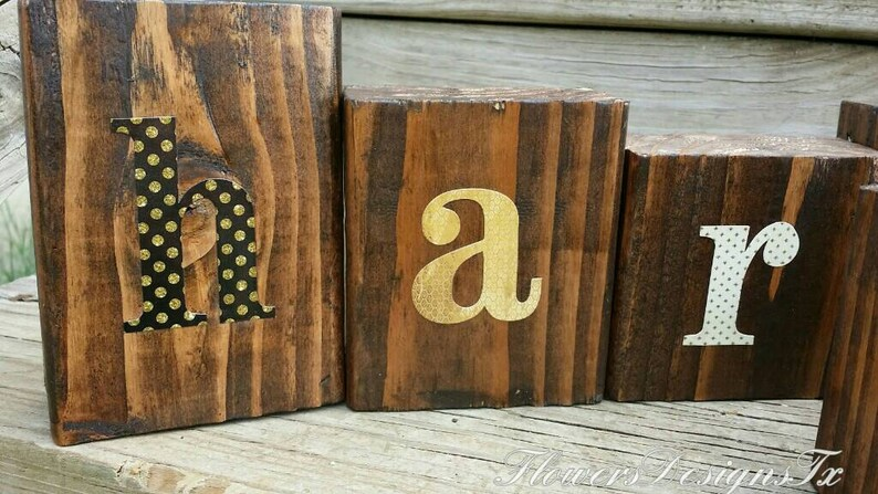 HARVEST wooden blocks \u2022 Fall Decor \u2022 Rustic table decor \u2022 Autumn blocks \u2022 It/'s Fall Y/'all