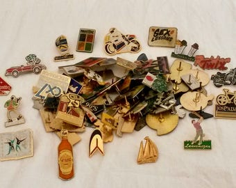 80 Assorted Pins, Crafter Enamel Pins, Backpack Pins, Crafter Enamel Pins, Art Lapel Pins, Craft Supply Pins, Pin Badge
