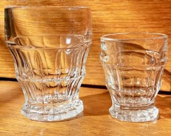 1950s Shot Glasses, 9 Liqueur Glasses, Set, Thick Glass, Vintage Drinking Glasses, Fine Glasses