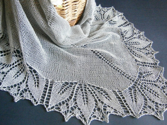 Summer Cotton Linen Lace Knit Shawl. Hand Knitting. Made To Order. Knitted Shawl. Openwork Shawl. Hand Knit Scarf