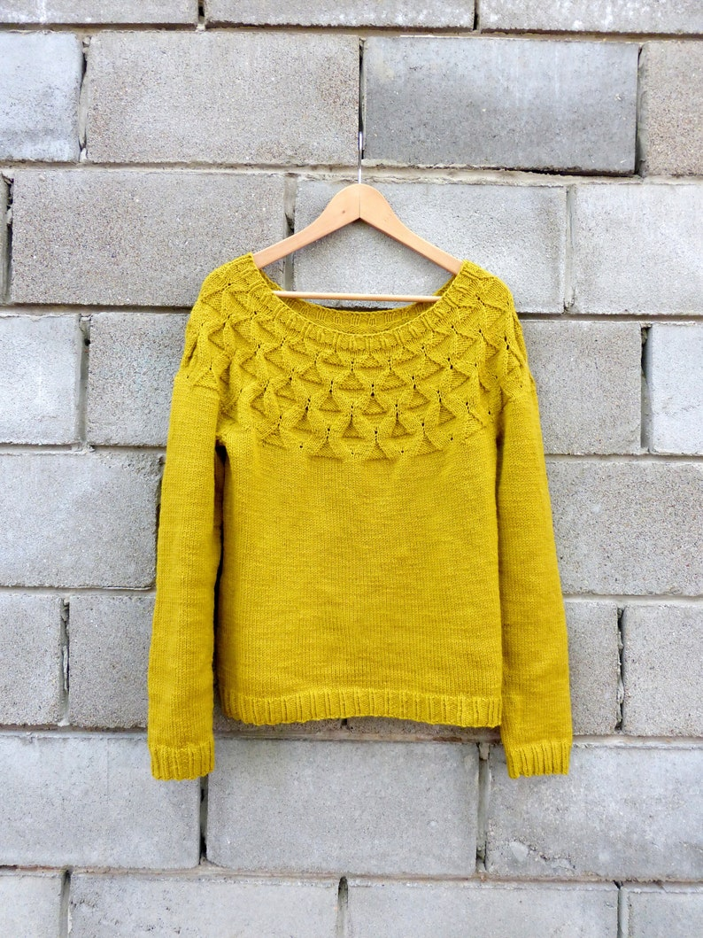 41a7ebb4a059 Knitted womens sweater Knit cable pullover Handknitted wool