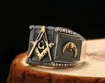 Masonic ring | Etsy