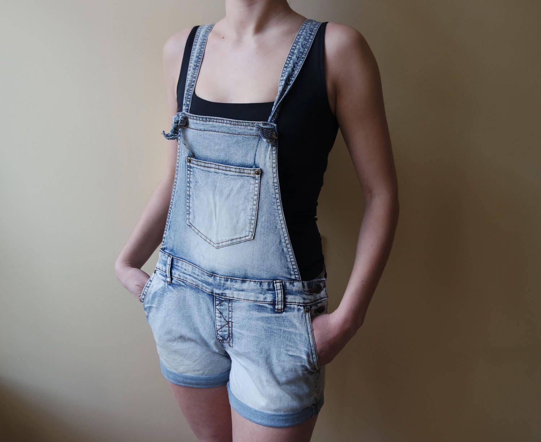 Vintage Overalls & Jumpsuits Vintage Shotalls Denim Overalls Womens Jeans Blue Washed Out Shortalls Jumpsuit Workman One Piece Eu 40 $14.00 AT vintagedancer.com