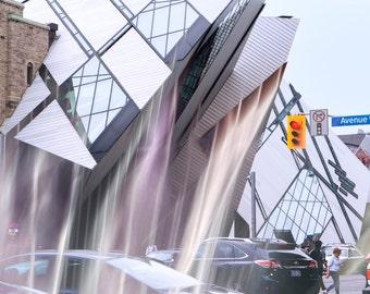 Royal Ontario Museum, signed custom printed fine art photograph, Toronto, abstract, modern art, wall art, architecture, Canada, print