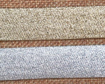 EUR 1.45/meter slanted ribbon glitter metallic edging tape in two colors gold silver for sewing apparel decoration enclose 1 m KW115