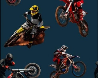 EUR 17.90/meter French Terry Motorcycles Bikes Motorcross Racing Driver Fabric for Sewing For Boys for Sweatshirts Pants Jackets 0.50mx1.50 m Art 3070