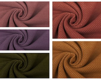 EUR 17,90/Meter Jacquard Heavy Sweat, plain colors in pink, camel, dark rose, purple and army green 0,50mx1,50 m Art 3294