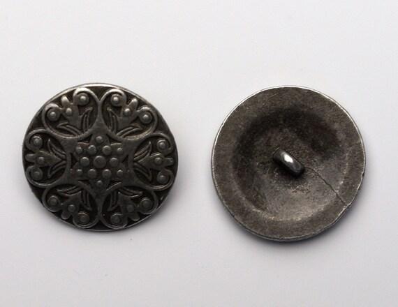 10 edle Metallknöpfe 25mm antik bronze Keltik-Muster Knopf Knöpfe zum annähen