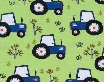 EUR 14.50/meter Jersey Trecker Tractor Fabric Trekker for Kids Babies for Sewing Dresses T-Shirts Beanies Pants Loops 0.50mx1.50 m Art 3066