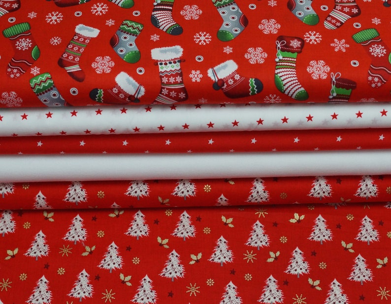EUR 1000/meter Christmas fabric package cotton tank-tree image 0