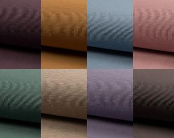 EUR 14.90/meter Ottoman Jersey Rib in Rose, Purple, Beige, Brown, Blue, Mint, Caramel and Mauve 0,50mx1,45 m Art 3302