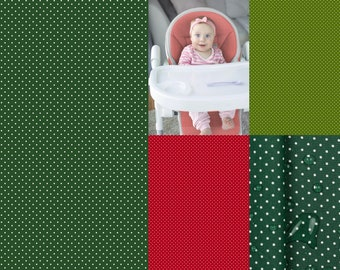 EUR 13.90/meter Coated cotton, Christmas colors, oilcloth with mini dots in dark green, green and red 0,50mx1,48 m Art 3300