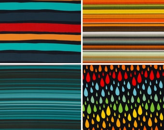 18.90/Meter Softshell Stretch SWAFING, fabric with NANO technology, with strip or drops, various colors and patterns, 0.50mx1.45 m Art 3305