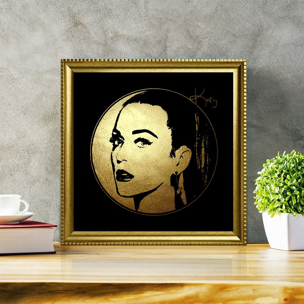 Katy Perry in Gold Katy Perry Katy Perry Art Katy Perry | Etsy