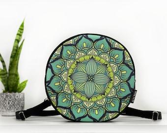 Boho Bag Black Mandala Bumbag Waterproof Bag Mini Waterproof Bag Vegan Bag Blue Mandala Fanny Pack Festival Vegan Belly Bag Gift idea
