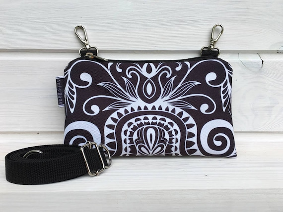 c77bd14e82af Fanny Pack Festival Mini Waterproof Bag Black White Mandala