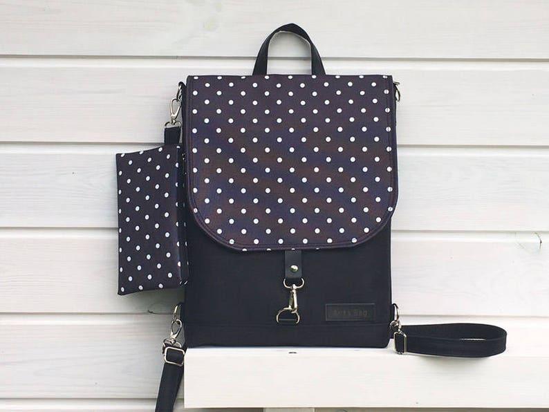 Black Polka dots Disney Backpack Waterproof Crossbody bag