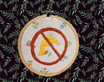 No Trumps Allowed! - 4-inch Embroidery Piece