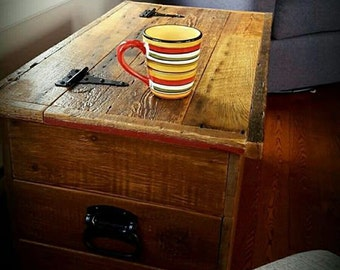 Wooden trunk - with barn wood
